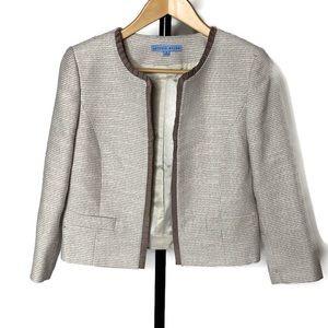 Antonio Melani Brown Creme Blazer Jacket Size 4